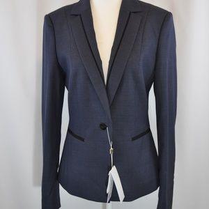 NWT Hugo Boss Blue Textured Blazer - 4